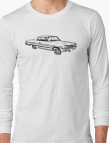 1964 Chevrolet Impala Muscle Car Illustration T-Shirt