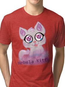 Nebula Kitty Tri-blend T-Shirt