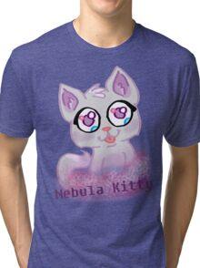Nebula Kitty Tri-blend T-Shirt