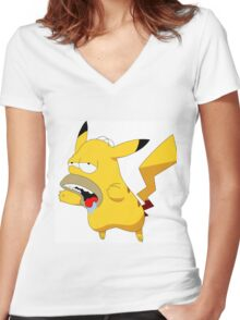 Homerchu Women's Fitted V-Neck T-Shirt