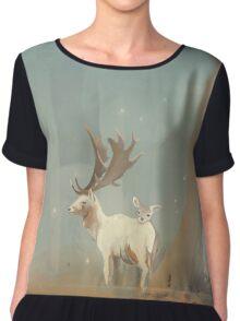 Deer Chiffon Top
