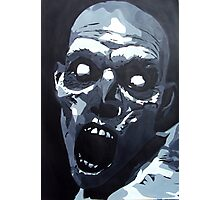 Hungry Zombie- Abstract Zombie Painting Photographic Print