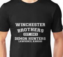 Winchester Brothers Est 1983 Demon Hunters Lawrence Kansas Unisex T-Shirt