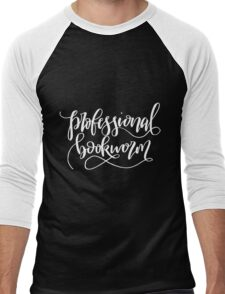 Professional Bookworm Men's Baseball ¾ T-Shirt