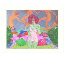 Matisse & the dancing kids Art Print