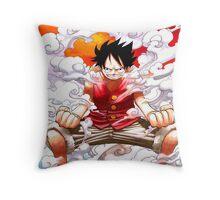 luffy power Throw Pillow