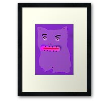 silly  cat Framed Print