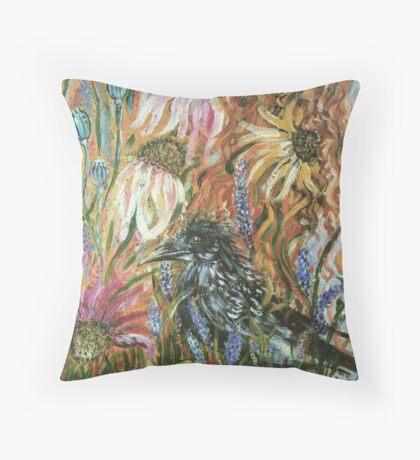 In The Raven's Garden Throw Pillow
