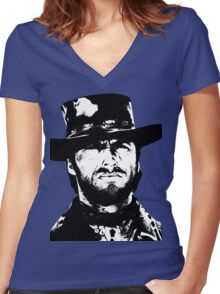 Clint Eastwood -Blondie Women's Fitted V-Neck T-Shirt