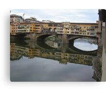 REFLECTIONS OF THE ARNO IN FLORENCE - ITALY -  VETRINA RB EXPLORE GIUGNO 2014 -EUROPE - WORLD Canvas Print