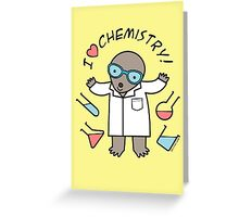 I Heart Chemistry - Scientist Chemist Mole Greeting Card