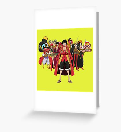 luffy team Greeting Card