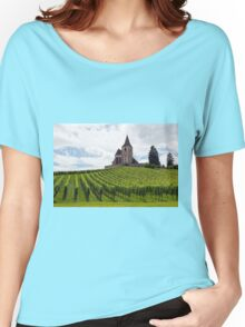 Saint-Jacques-le-Majeur Church and Vineyards Women's Relaxed Fit T-Shirt