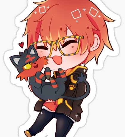 Mystic Messenger x Pokemon - 707 Sticker  Sticker