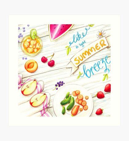 """wall art """"like a light summer breeze"""" Art Print"""