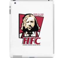 Colonel Sandor: The hound fried chicken (HFC) - Kentucky parody.  iPad Case/Skin