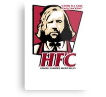 Colonel Sandor: The hound fried chicken (HFC) - Kentucky parody.  Metal Print