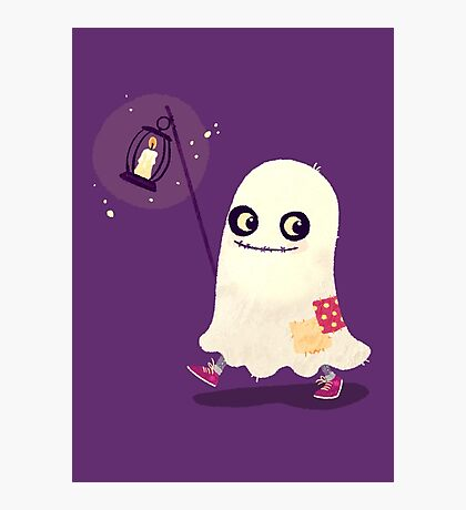 Halloween Kids - Ghost Photographic Print