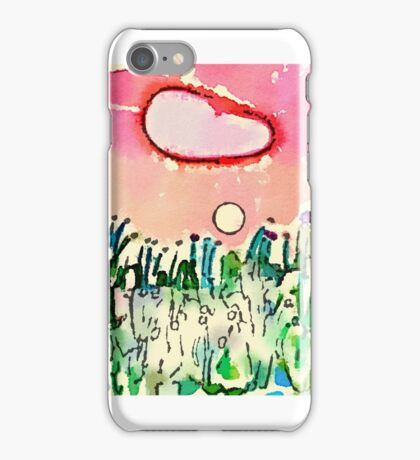 Conceptual Child - watercolor & pen Attempt iPhone Case/Skin