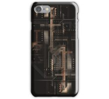 Composition of golden abstract geometry #8 iPhone Case/Skin