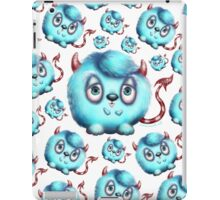 Monster in Blue #2 - Little Fluffy Devil iPad Case/Skin