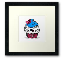 Cupcake - Funny Girly Zombie Cup Cake Framed Print