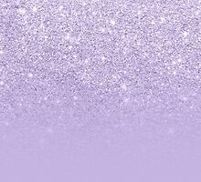 Stylish purple lavender glitter ombre color block by GirlyTrend