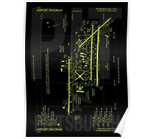 PIT Pittsburgh Airport Diagram Poster