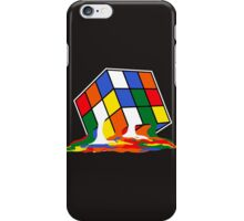 SHELDON COOPER BIG BANG THEORY MELTED MELTING RUBIKS CUBE POP CULTURE iPhone Case/Skin