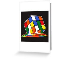 SHELDON COOPER BIG BANG THEORY MELTED MELTING RUBIKS CUBE POP CULTURE Greeting Card