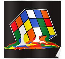 SHELDON COOPER BIG BANG THEORY MELTED MELTING RUBIKS CUBE POP CULTURE Poster