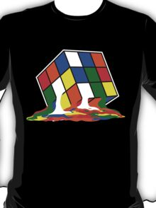 SHELDON COOPER BIG BANG THEORY MELTED MELTING RUBIKS CUBE POP CULTURE T-Shirt