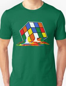 SHELDON COOPER BIG BANG THEORY MELTED MELTING RUBIKS CUBE POP CULTURE Unisex T-Shirt