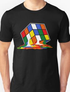 SHELDON COOPER BIG BANG THEORY MELTED MELTING RUBIKS CUBE POP CULTURE Unisex T-Shirt