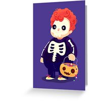 Halloween Kids - Skeleton Greeting Card
