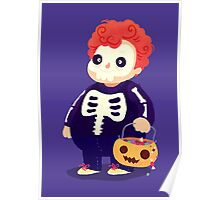 Halloween Kids - Skeleton Poster