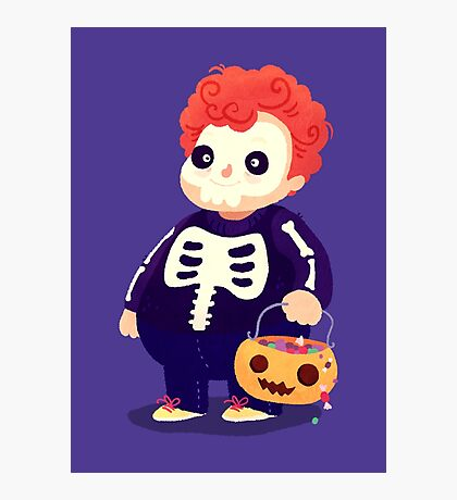 Halloween Kids - Skeleton Photographic Print