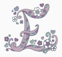 Decorative capital letter E initial art One Piece - Long Sleeve