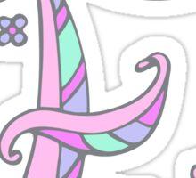 Decorative capital letter E initial art Sticker