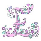 Decorative capital letter E initial art by Sarah Trett