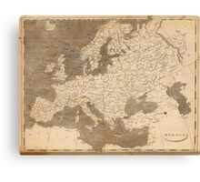 Vintage Map of Europe (1804)  Canvas Print