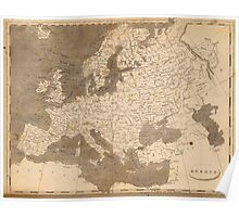 Vintage Map of Europe (1804)  Poster