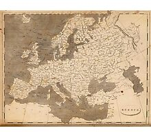 Vintage Map of Europe (1804)  Photographic Print