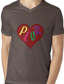 Live The PLUR Life Mens V-Neck T-Shirt