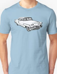 1956 Sedan Deville Cadillac Car Illustration Unisex T-Shirt