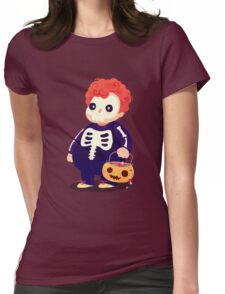 Halloween Kids - Skeleton Womens Fitted T-Shirt