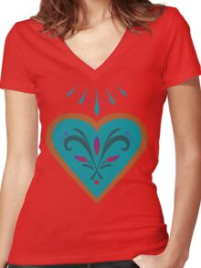 Royal Lineage  Women's Fitted V-Neck T-Shirt