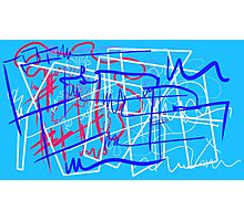 Abstract typographic graffiti art Photographic Print