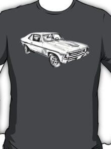 1969 Chevrolet Nova Yenko 427 Muscle Car Illustration T-Shirt