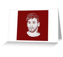 Neymar - Barcelona, Brazil,  Greeting Card